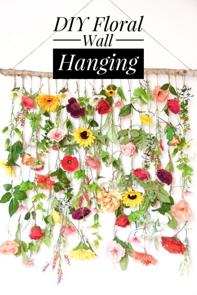 Diy Floral Wall Hanging Eclectic Spark