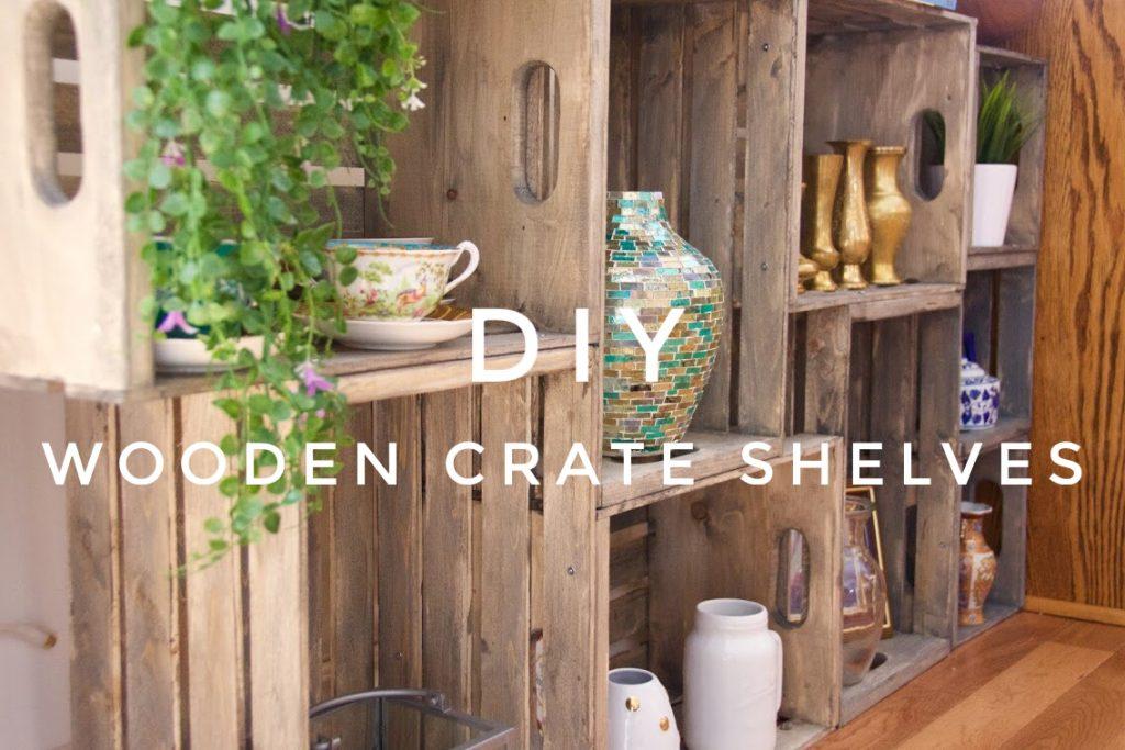 Wooden Crate Display Shelves Diy Eclectic Spark