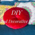DIY round cushion decorative pillow 1