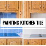 DIY Painting Kitchen Tiles