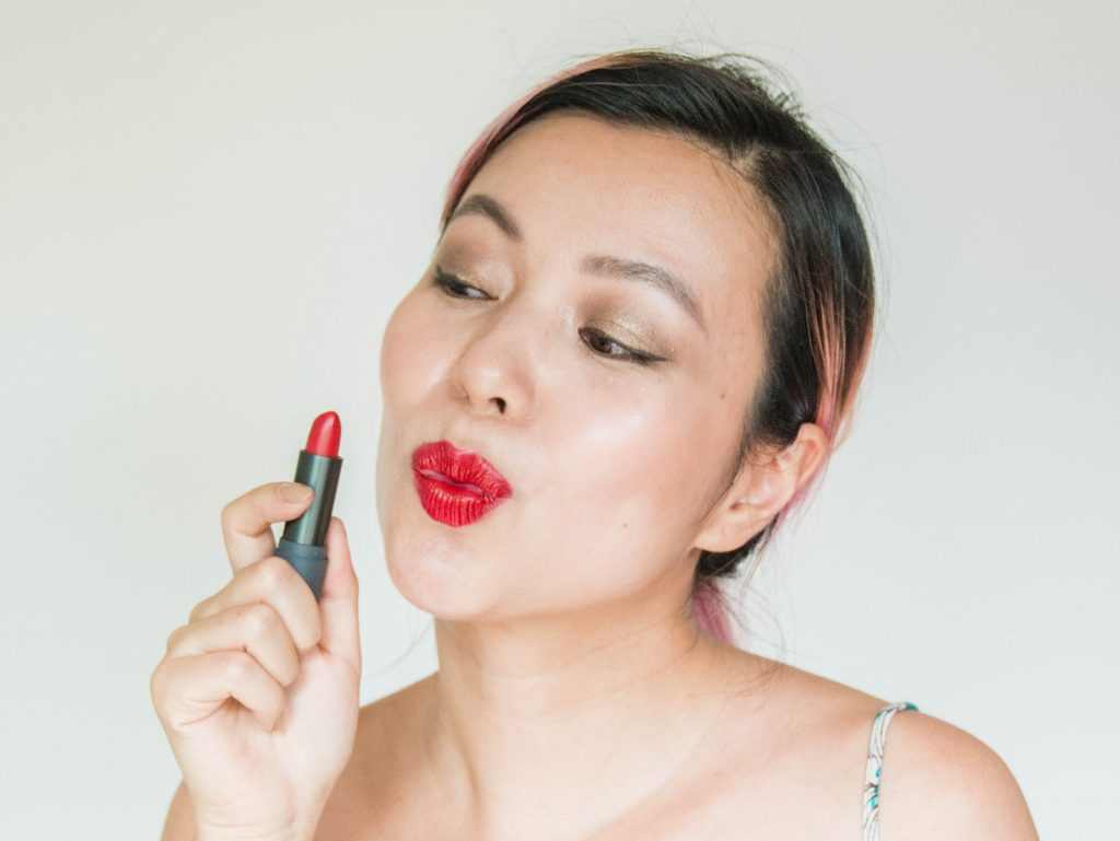 cherry red lipstick Bite Beauty Lip Lab Toronto Montreal lifestyle beauty fashion blog