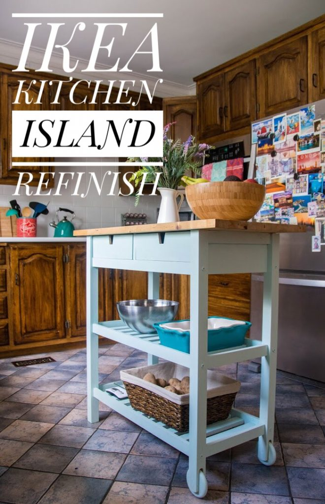 IKEA FORHOJA kitchen island refinish remodel