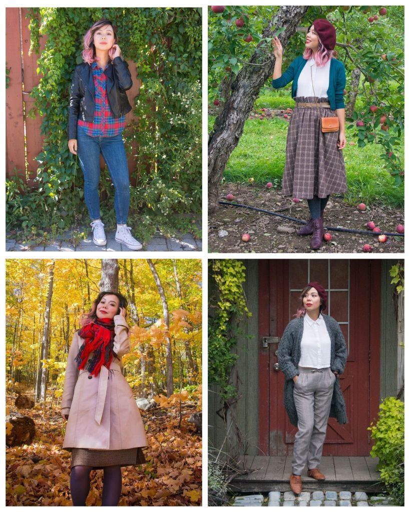 fall fashion plaid checks tartan