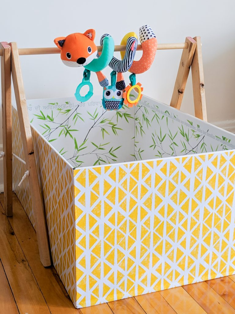 DIY baby gym Montreal lifestyle blog