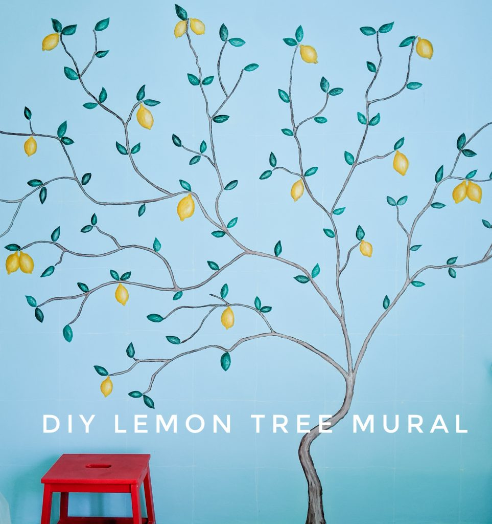 After DIY lemon tree statement mural accent wall Montreal lifestyle fashion beauty blog-01