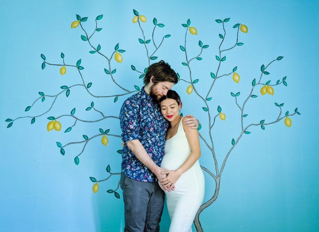 DIY nursery lemon tree statement mural accent wall Montreal lifestyle fashion beauty blog 1