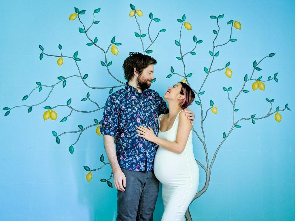 DIY nursery lemon tree statement mural accent wall Montreal lifestyle fashion beauty blog 2