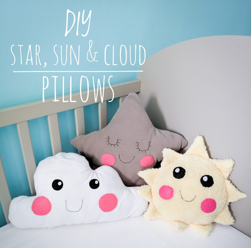 DIY star sun cloud pillow cushion Montreal lifestyle fashion beauty blog 2
