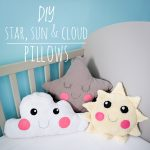 DIY star sun cloud pillow cushion Montreal lifestyle fashion beauty blog 2