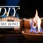night time DIY concrete fire bowl Montreal lifestyle beauty fashion blog 2