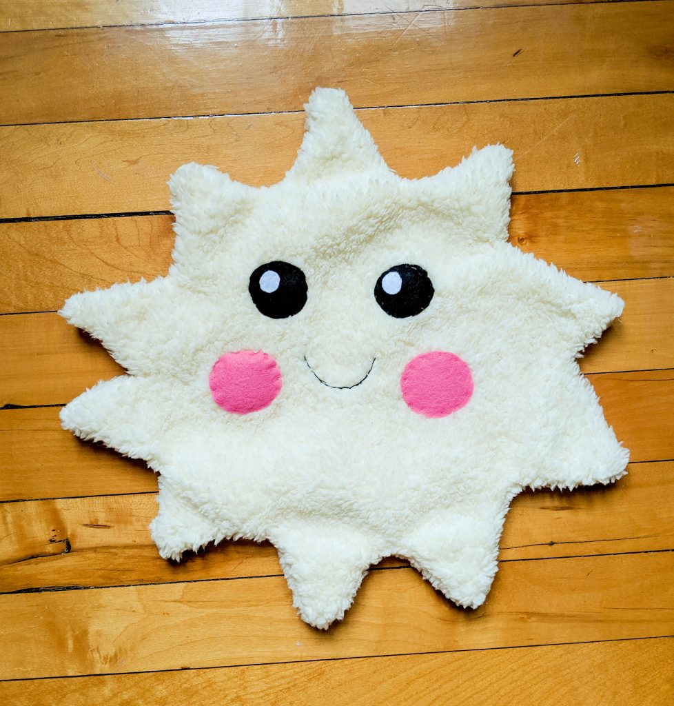 sew sun points DIY star sun cloud pillow cushion Montreal lifestyle fashion beauty blog