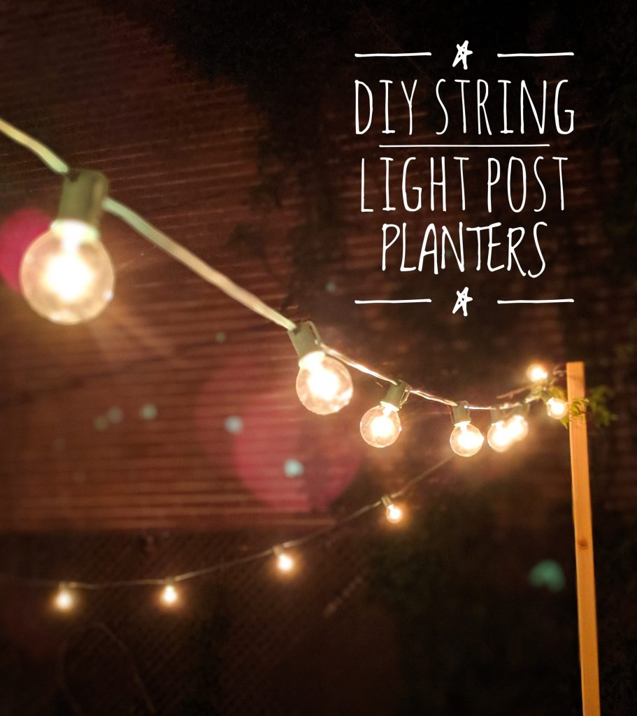 DIY string light concrete planter posts Montreal lifestyle beauty fashion blog 1