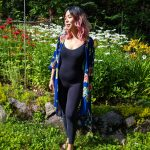 unitard floral kimono mom outfit Montreal fashion beauty lifestyle blog