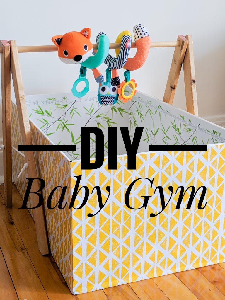 DIY Baby Gym Montreal lifestyle blog
