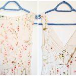 DIY altering wedding guest dress