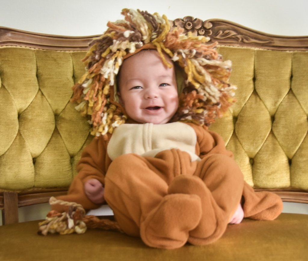 DIY baby lion Halloween costume Montreal lifestyle beauty fashion blog 1