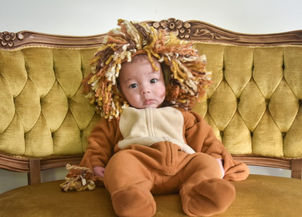 DIY baby lion Halloween costume Montreal lifestyle beauty fashion blog 2