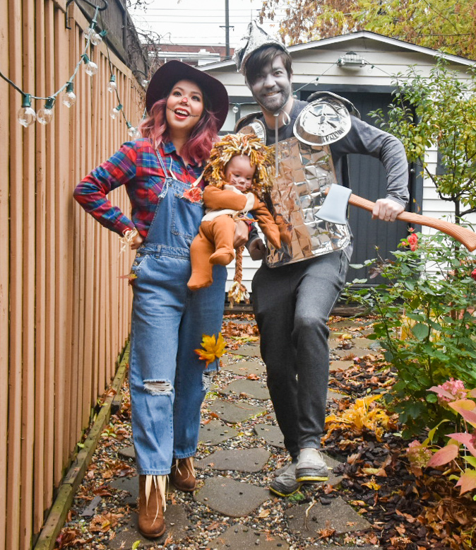 Wizard of Oz family Halloween costume tin man scarecrow lion Montreal fashion beauty lifestyle blog 5