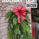 DIY holiday christmas porch light decor Montreal lifestyle fashion beauty blog