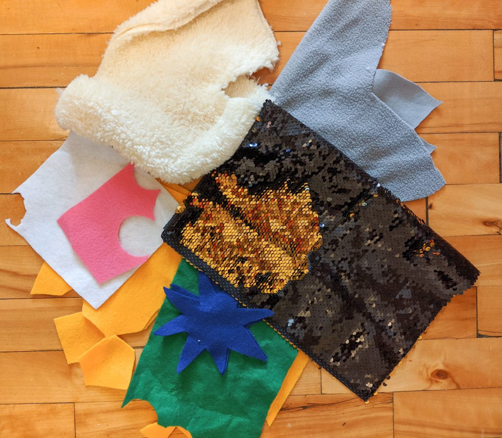scrap fabrics DIY sensory blanket Montreal lifestyle fashion beauty blog