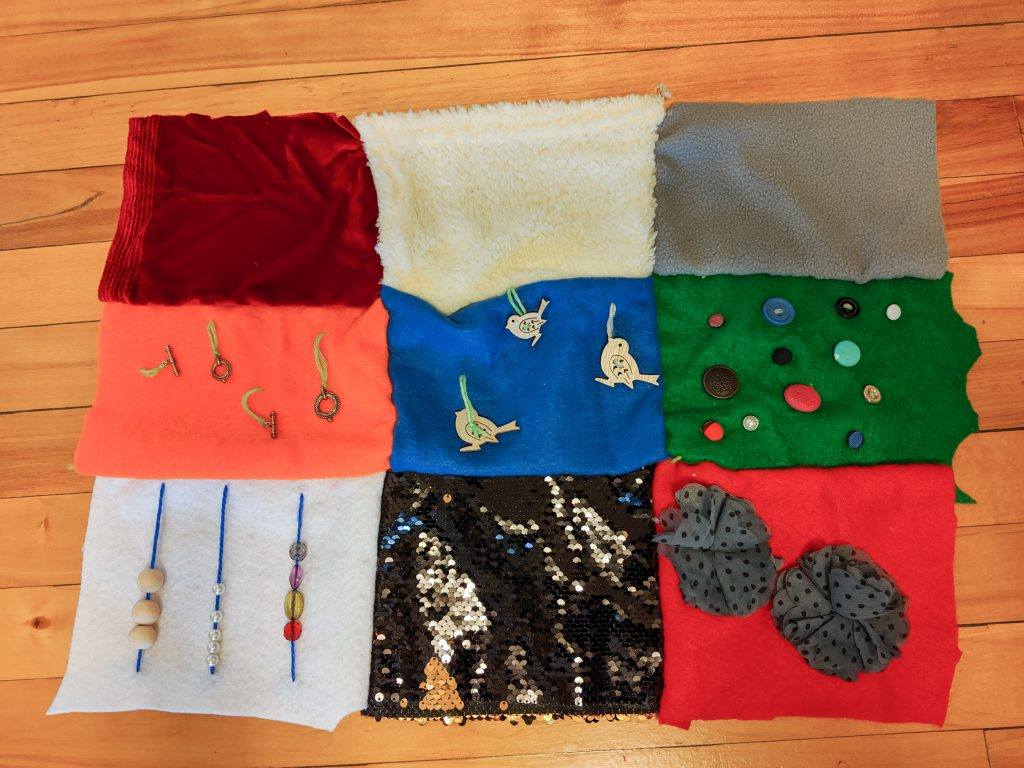 sew squares together DIY sensory blanket Montreal lifestyle fashion beauty blog