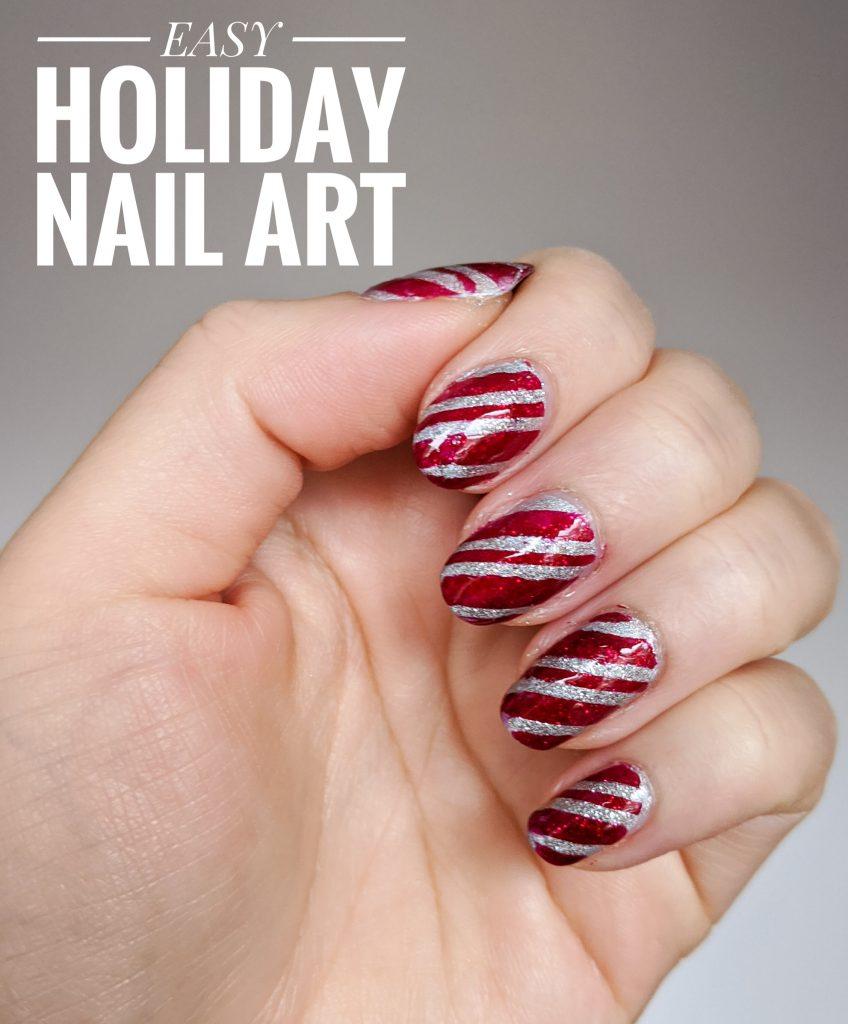 easy DIY holiday Christmas nail art Montreal beauty fashion lifestyle blog
