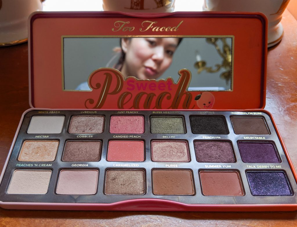 Too Faced Sweet Peach how to depot eye shadow palette Montreal beauty fashion lifestyle blog