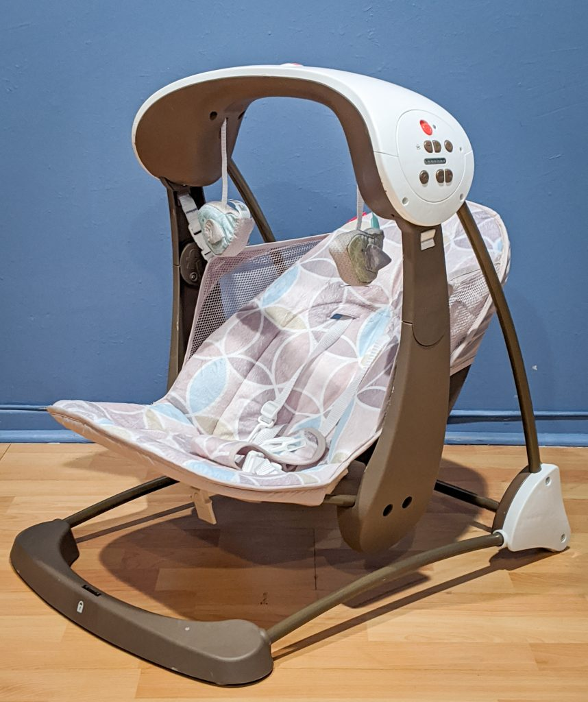 Fisher Price Deluxe Take-Along Swing & Seat best and worst baby purchases Montreal lifestyle blog 1