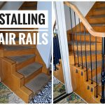 vintage-inspired metal baluster wooden stair railing installation remodel renovation Montreal lifestyle fashion beauty blog