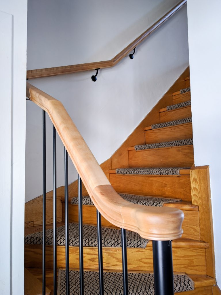 after wooden stair railing installation remodel renovation Montreal lifestyle fashion beauty blog