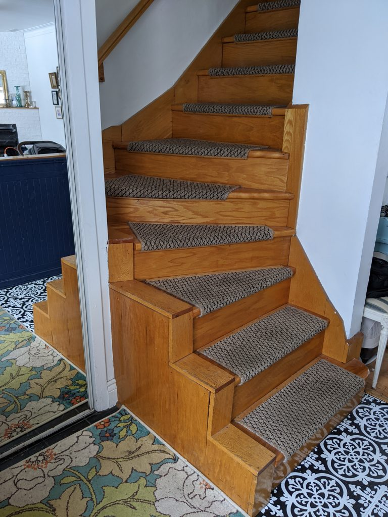 before stair railing installation remodel renovation Montreal lifestyle blog 1