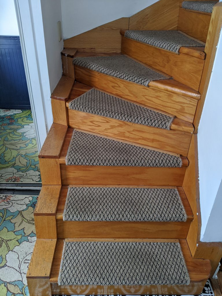 before stair railing installation remodel renovation Montreal lifestyle blog 2