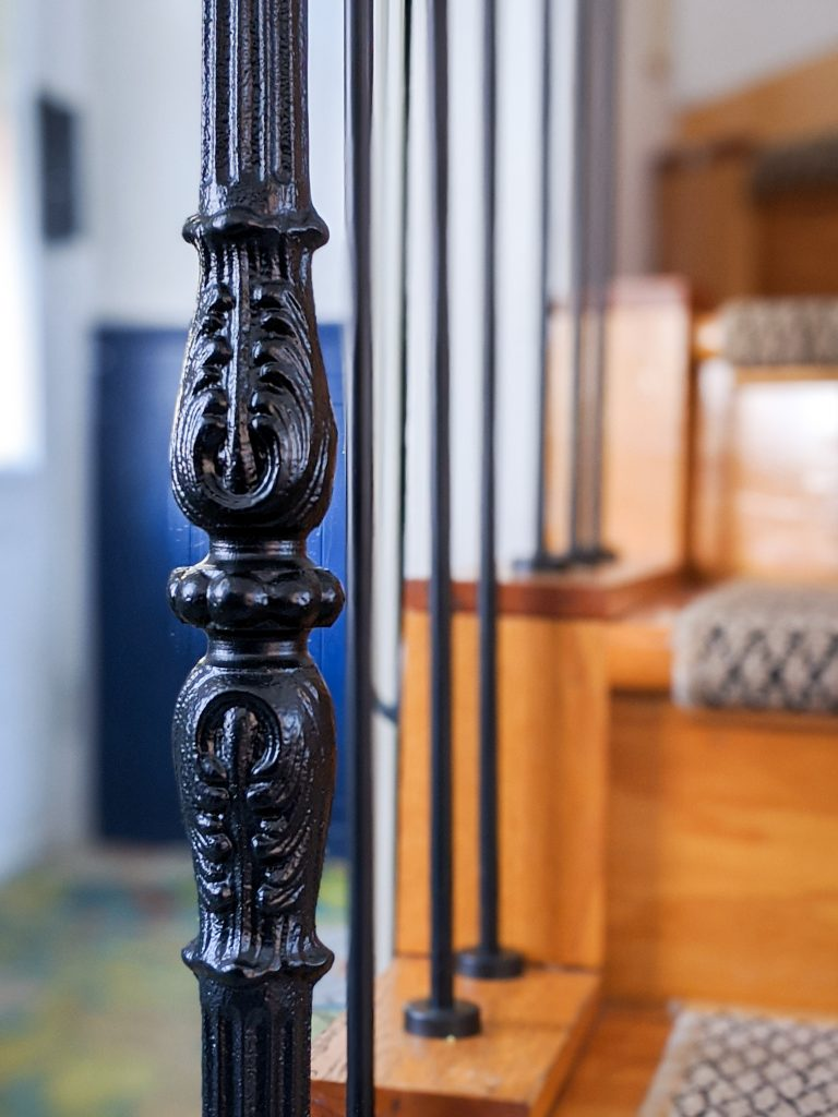 metal baluster after stair railing installation remodel renovation Montreal lifestyle fashion beauty blog