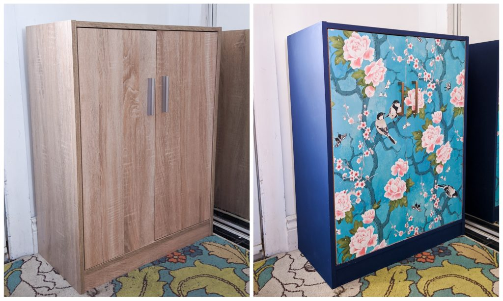 shoe cabinet makeover entryway makeover Montreal lifestyle beauty fashion blog
