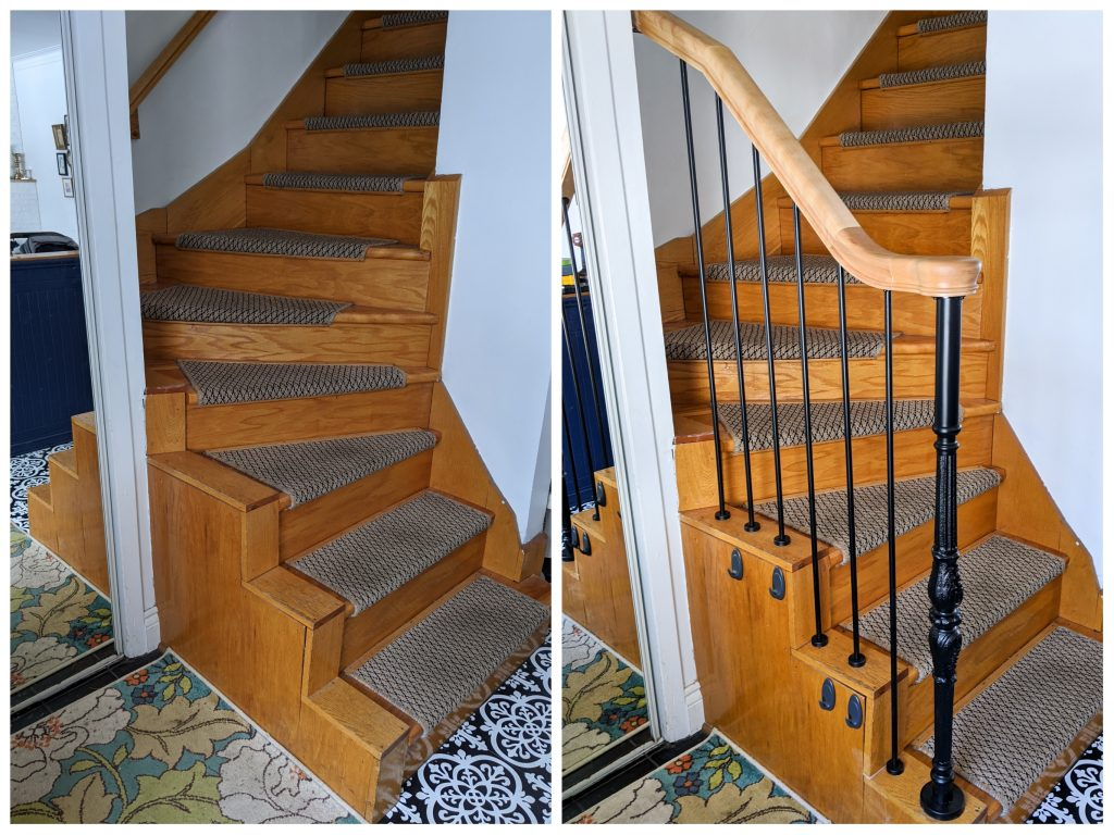 installing new stair rails entryway makeover Montreal lifestyle beauty fashion blog