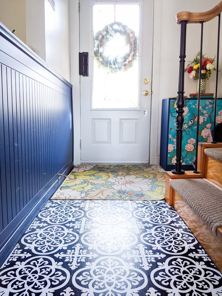 after tile makeover entryway remodel Montreal lifestyle fashion beauty blog