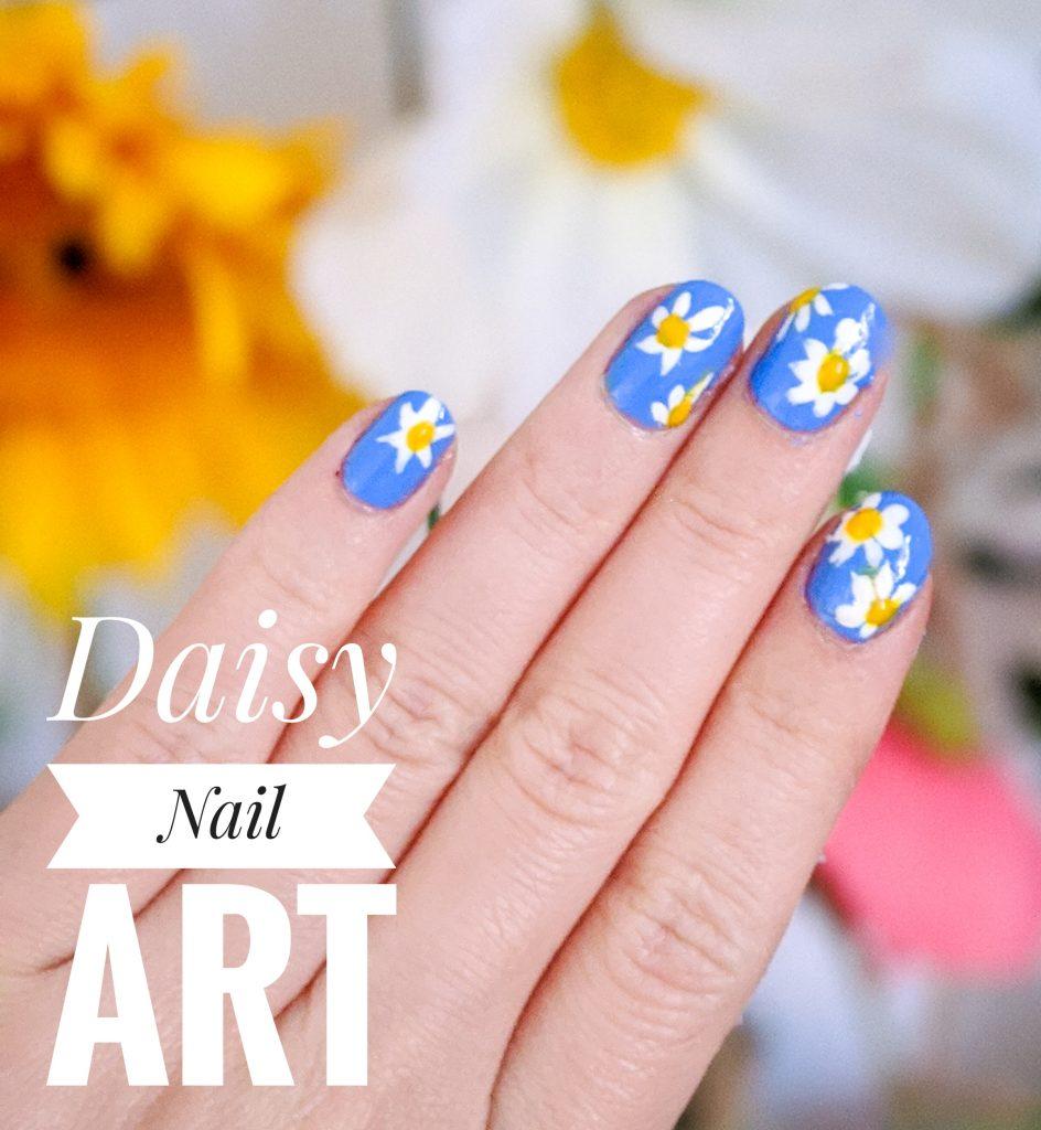 daisy spring nail art mani Montreal beauty fashion lifestyle blog 1