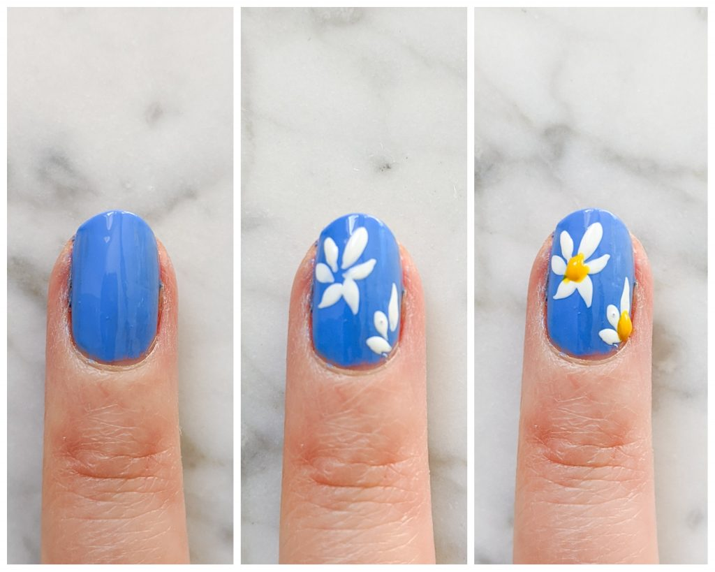 daisy spring nail art mani Montreal beauty fashion lifestyle blog 3