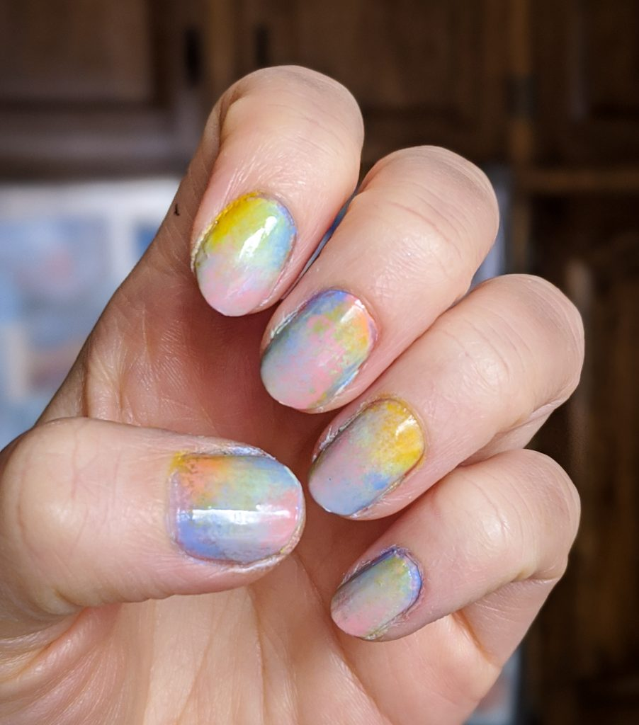 tie-dye nail art Easter spring manicure Montreal beauty fashion lifestyle blog 1