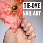 tie-dye nail art Easter spring manicure Montreal beauty fashion lifestyle blog 3