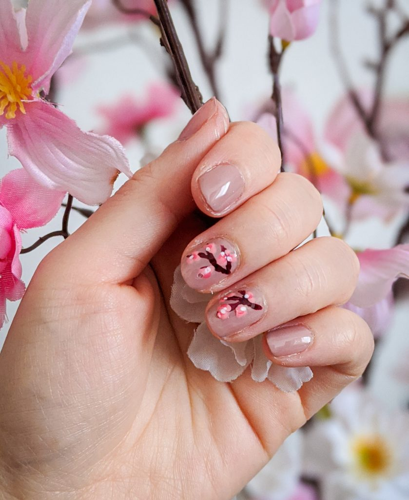 cherry blossom nail art DIY mani Montreal beauty fashion lifestyle blog 3