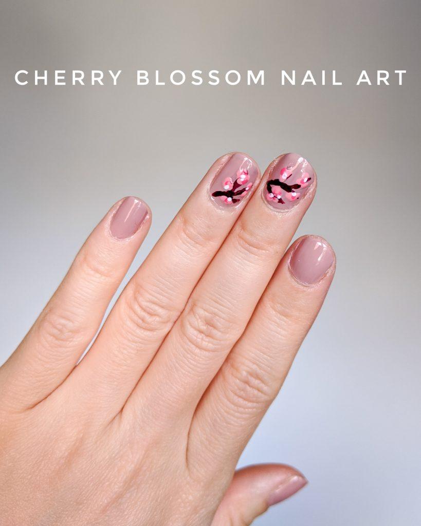 cherry blossom nail art DIY mani Montreal beauty fashion lifestyle blog 2