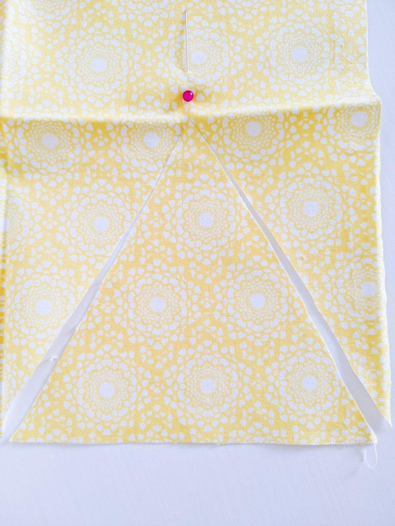 cut triangle DIY birthday party bunting banner Montreal lifestyle fashion beauty blog