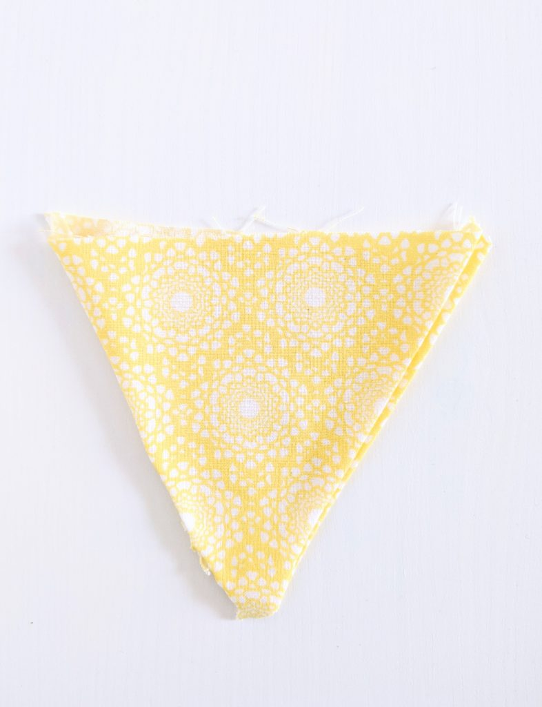 turn triangles inside out DIY birthday party bunting banner Montreal lifestyle fashion beauty blog