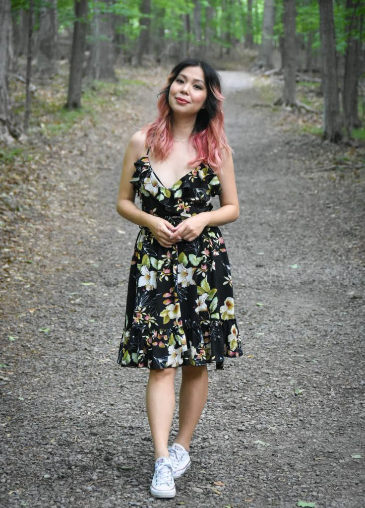 floral dress summer fashion Montreal fashion beauty lifestyle blog 1