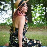 straw hat floral dress summer fashion Montreal fashion beauty lifestyle blog 1