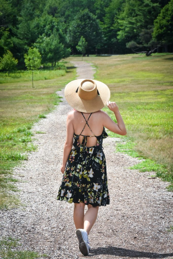 straw hat floral dress summer fashion Montreal fashion beauty lifestyle blog 3