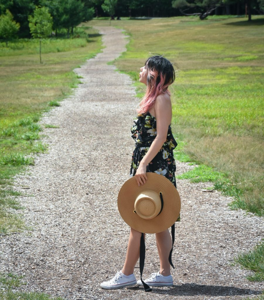 straw hat floral dress summer fashion Montreal fashion beauty lifestyle blog 4