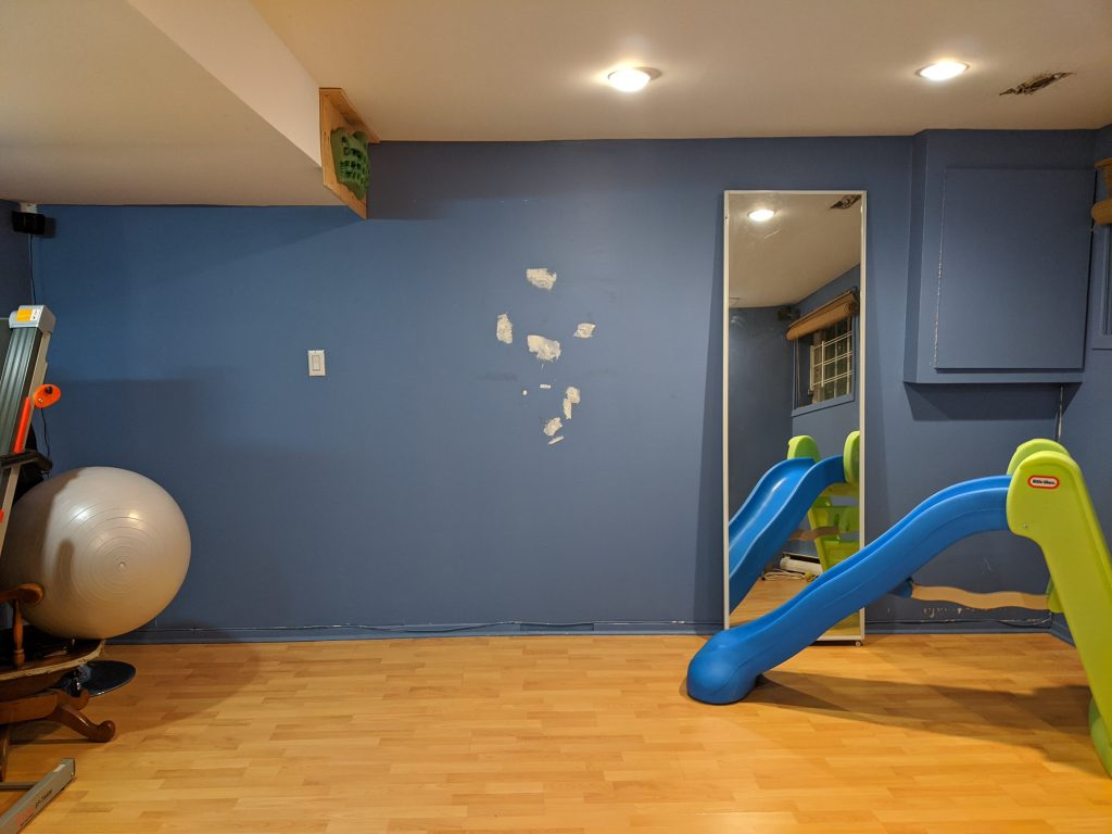 DIY multi-purpose basement gym remodel Montreal lifestyle fashion beauty blog 1