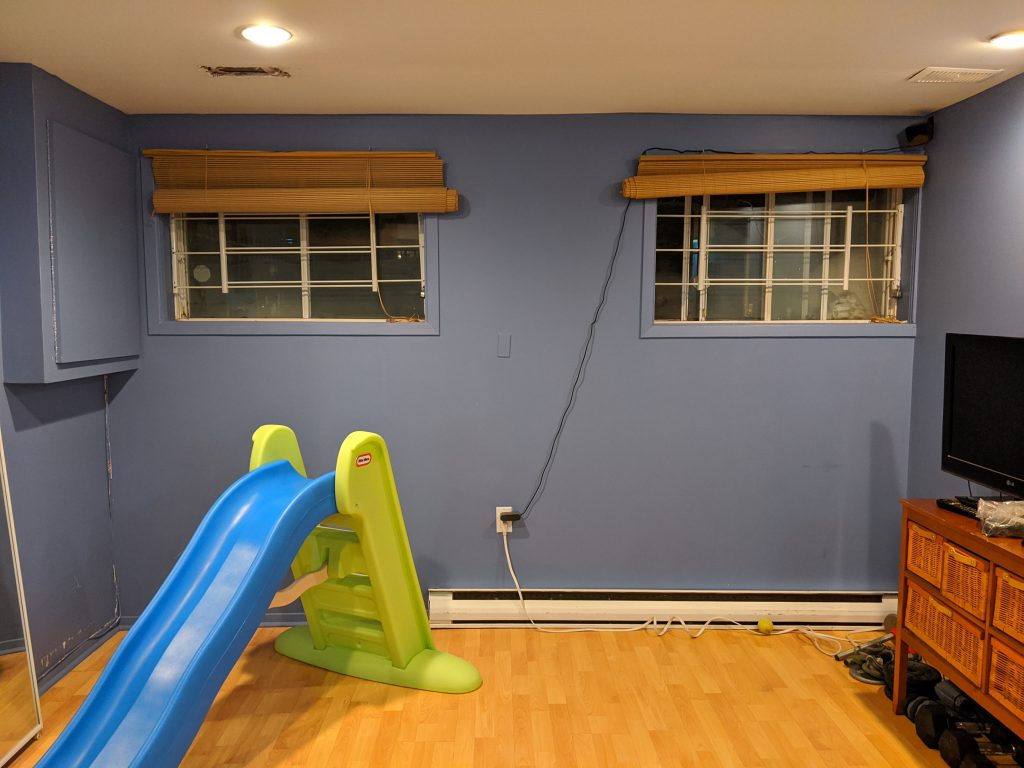 DIY multi-purpose basement gym remodel Montreal lifestyle fashion beauty blog 2